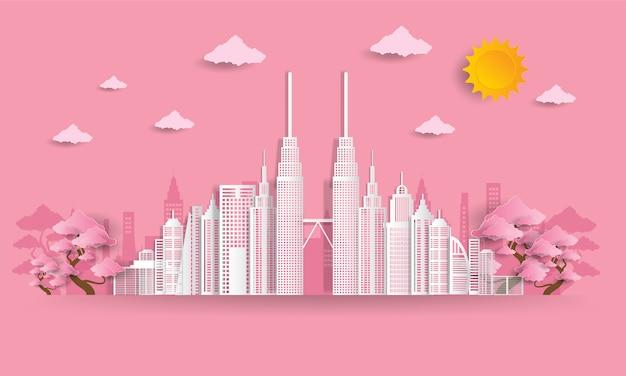 Ilustracja Miasta Przyjazne Dla środowiska Premium Wektorów