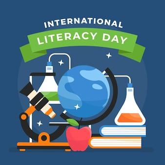 Ilustracja międzynarodowego dnia alfabetyzacji