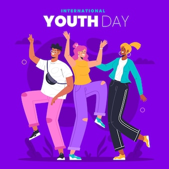 Ilustracja międzynarodowego dnia młodzieży