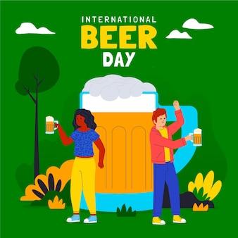Ilustracja międzynarodowego dnia piwa