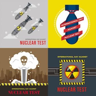 Ilustracja międzynarodowego dnia przeciw testom jądrowym