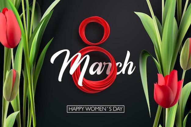 Ilustracja międzynarodowy dzień kobiet 8 marca