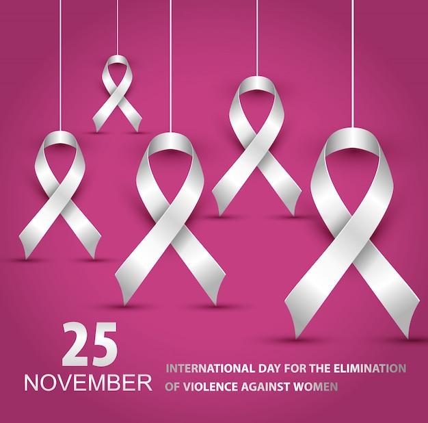Ilustracja międzynarodowy dzień na rzecz walki z przemocą wobec kobiet