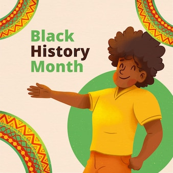 Ilustracja miesiąca akwareli czarnej historii