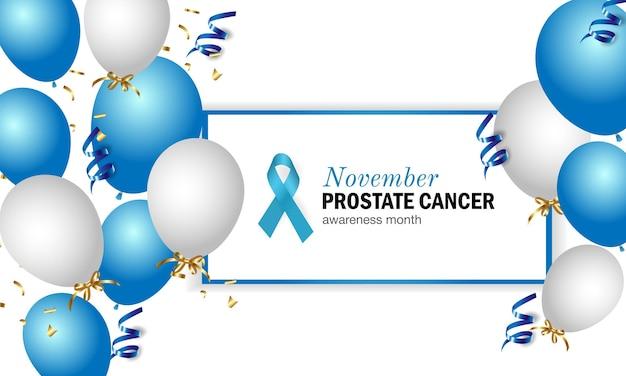 Ilustracja miesiąca świadomości raka prostaty