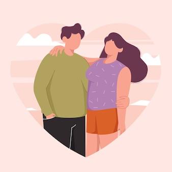 Ilustracja miłość para