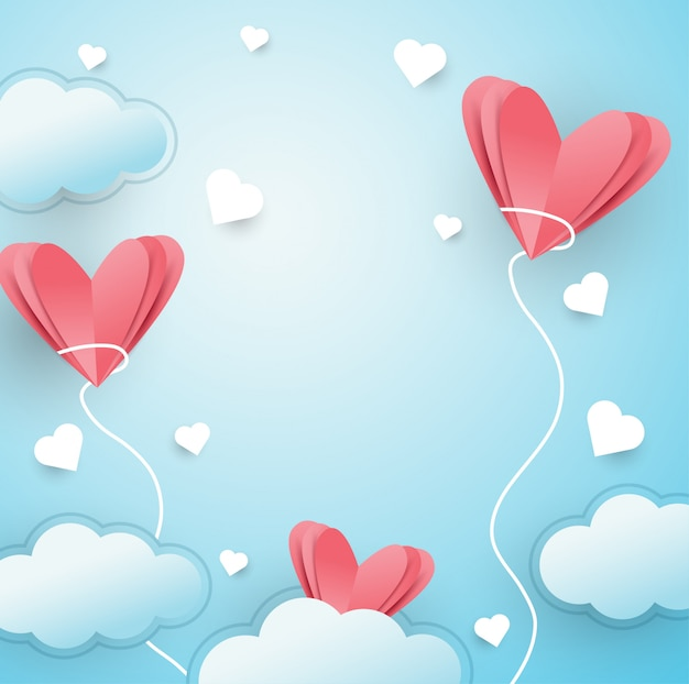 Ilustracja miłości latający tło
