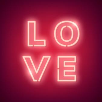 Ilustracja miłości neonowej