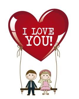 Ilustracja miłości