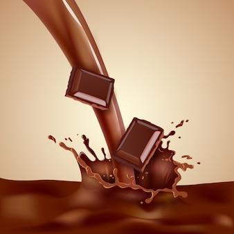 Ilustracja mleko choco