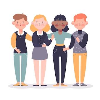 Ilustracja młodych ludzi