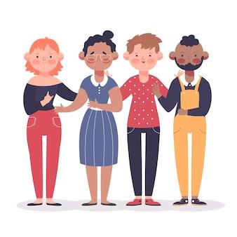 Ilustracja młodych obywateli