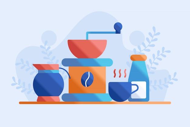 Ilustracja młynek do kawy