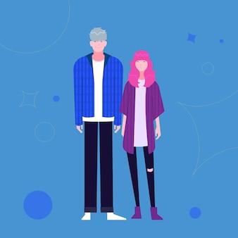 Ilustracja moda młodych koreańczyków