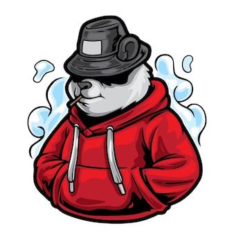 Ilustracja moda uliczna panda