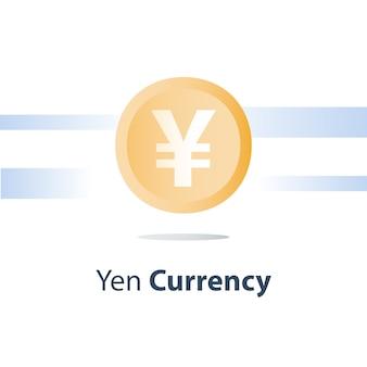 Ilustracja monety waluty jena