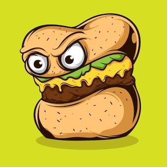 Ilustracja monster burger
