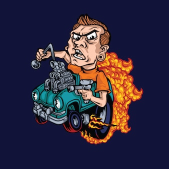 Ilustracja monster car