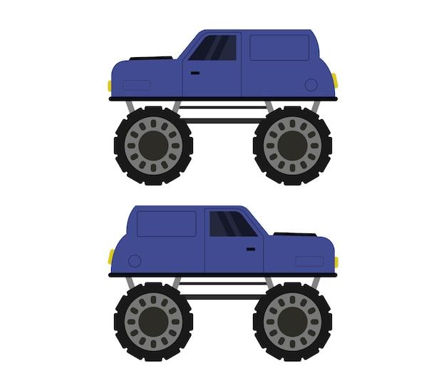 Ilustracja monster trucków