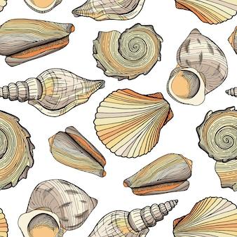 Ilustracja morski wzór