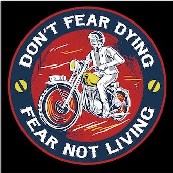 Ilustracja motocykl mężczyzna