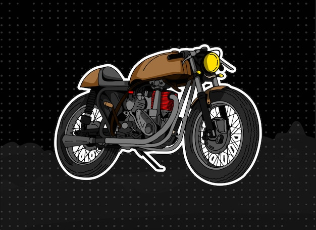 Ilustracja motocykla browny