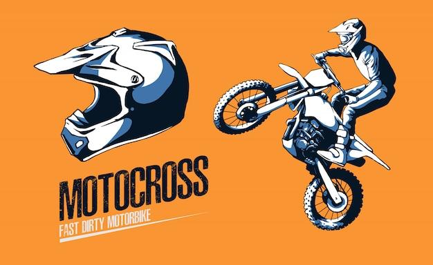 Ilustracja motorcross