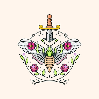 Ilustracja motylu