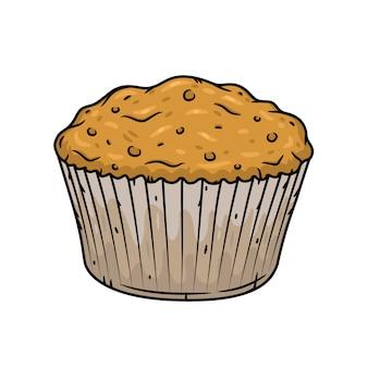Ilustracja muffin na białym tle