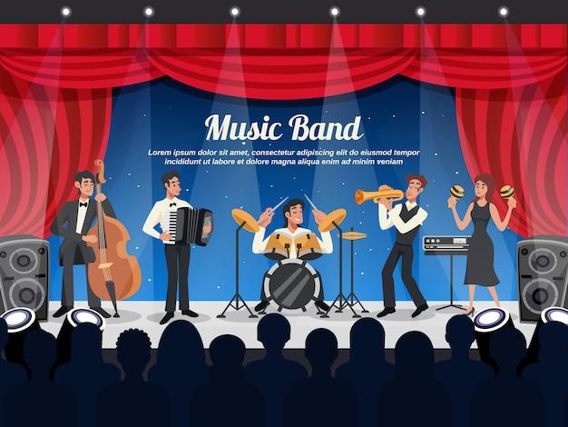 Ilustracja muzyk kreskówka