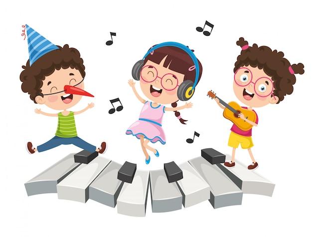 Ilustracja muzyki dla dzieci
