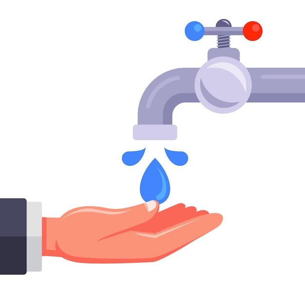 Ilustracja mycie rąk na białym tle