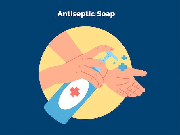 Ilustracja mydła antyseptyczne higieny