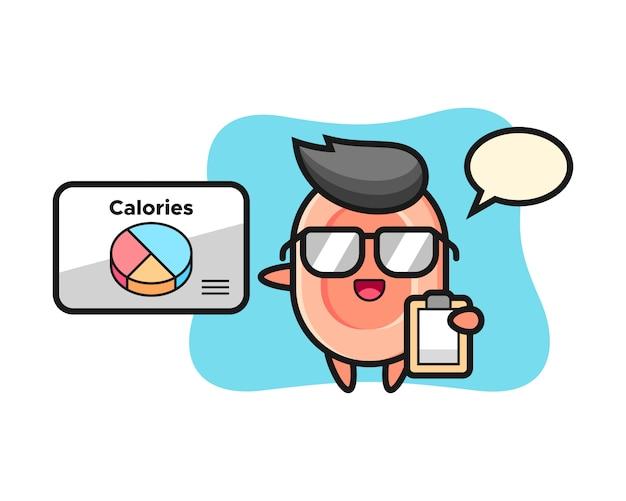 Ilustracja mydlana maskotka jako dietetyk, ładny styl na koszulkę, naklejkę, element logo