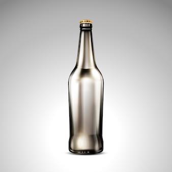 Ilustracja na białym tle butelki z ciemnego szkła