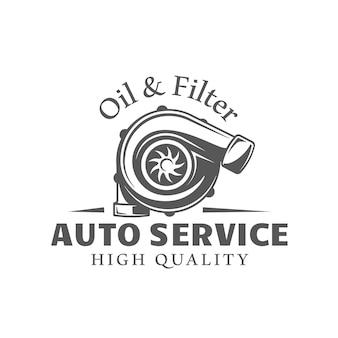 Ilustracja na białym tle etykieta usługi samochodu