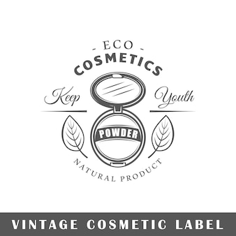 Ilustracja na białym tle etykiety kosmetyczne