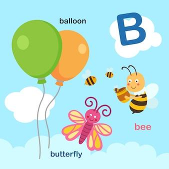 Ilustracja na białym tle litera alfabetu b.
