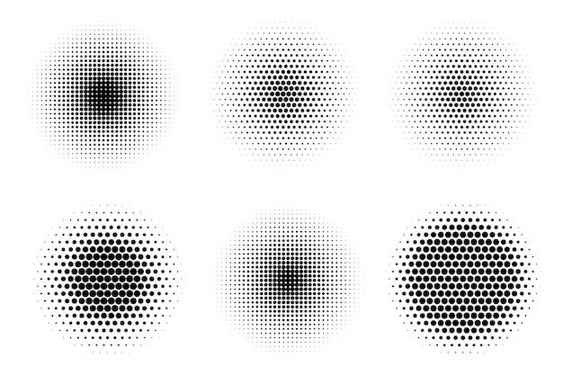 Ilustracja na białym tle plik półtonów w sprayu pop-art dot dla cienia lub objętości dla komiksu