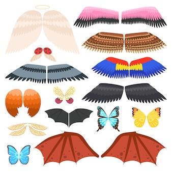 Ilustracja na białym tle skrzydła
