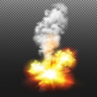 Ilustracja na białym tle wybuchu