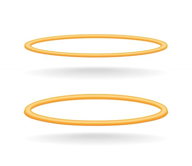 Ilustracja na białym tle złoty krąg