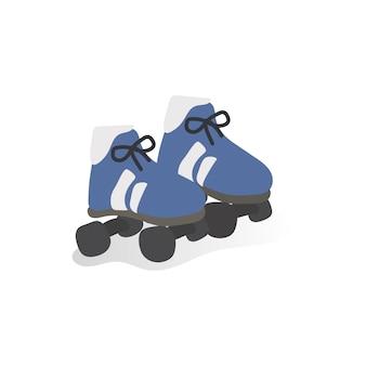 Ilustracja na łyżwach buty
