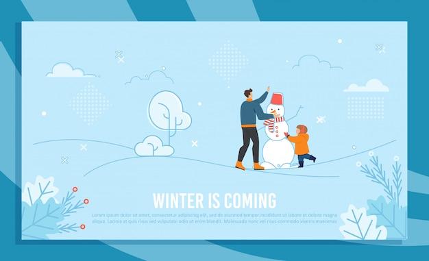 Ilustracja nadchodzi zima