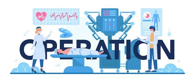 Ilustracja nagłówka typograficznego chirurga