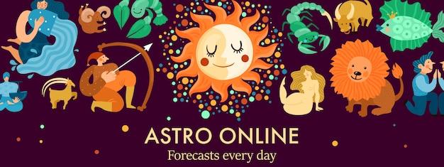 Ilustracja nagłówka znaków zodiaku