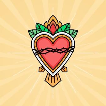 Ilustracja najświętszego serca