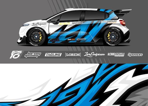 Ilustracja naklejek na samochód sportowy