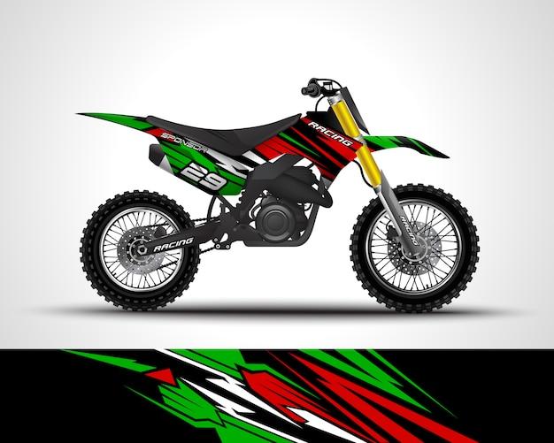 Ilustracja naklejka na motocross