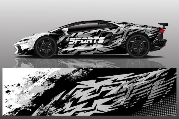 Ilustracja naklejka samochód sportowy